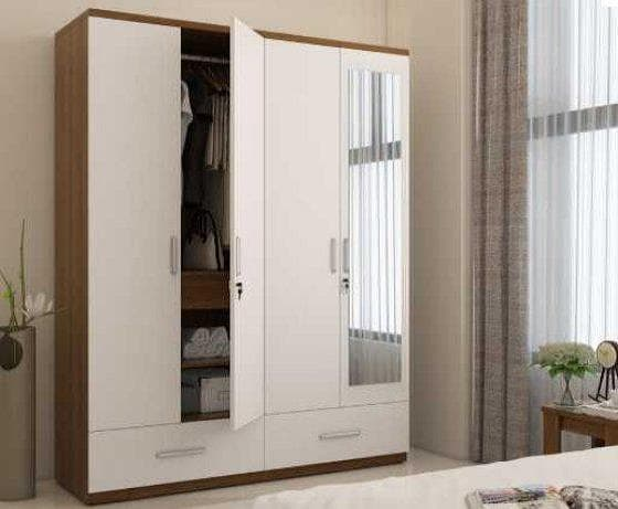APEX 4 DOOR WARDROBE WITH MIRROR-min